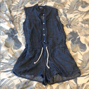 Splendid Denim romper sleeveless large jumper blue